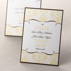Patterned Grandeur II Wedding Invitations