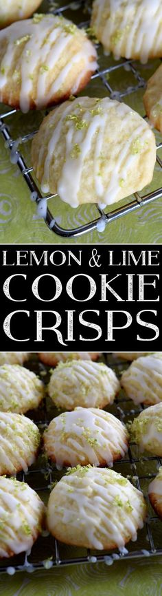 Lemon and Lime Cookie Crisps - Lord Byron's Kitchen