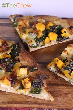 Yummy Kale and Butternut Squash Whole Wheat Pizza by Erin Scudder! It's so delicious your family won't even know it's healthy! #TheChew