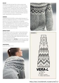 Sie fand ein Foto im Internet und präsentierte viele & & Fair Isle Knitting Patterns, Sweater Knitting Patterns, Arm Knitting, Knitting Charts, Knitting Stitches, Knitting Designs, Knit Patterns, Vintage Knitting, Knit Crochet