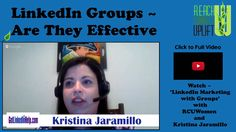 Do you use LinkedIn Groups for marketing your business? Here is a quick tip from Kristina Jaramillo and RCUWomen.
