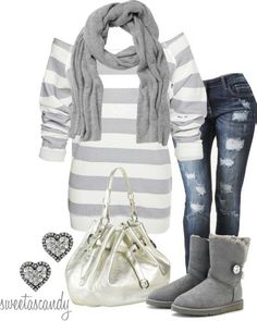 Winter outfit- I wud totally wear this