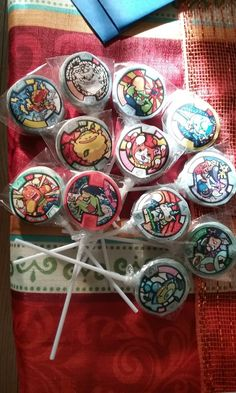 yo-kai watch birthday party lollipops