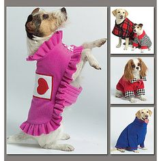 Vogue Pattern Dogs' Coat, All Sizes
