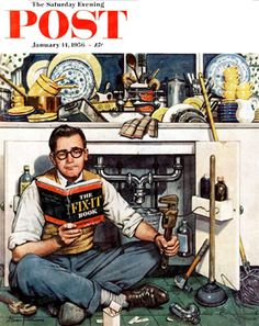 Mr. Fix-It by Stevan Dohanos, Jan. 14, 1956, The Saturday Evening Post.