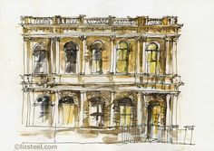 Sketching Architecture: A building I DID sketch again - Tasmanian Heritage...