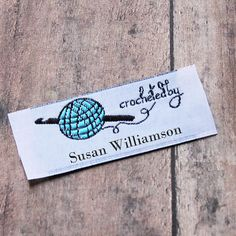 Crochet By Woven Labels Crochet Tags Custom by namemakerlabelco