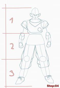 How to draw Goku from Dragon Ball Z step 04