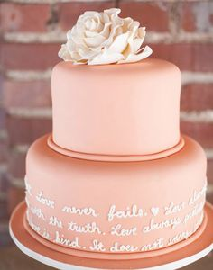 19. The most darling nod to your vows or favorite bible verse about marriage is to show them off on your cake like this Nashville Wedding Day captured by I Love You Too Photography with amazing cake design by Creative Crumbs!