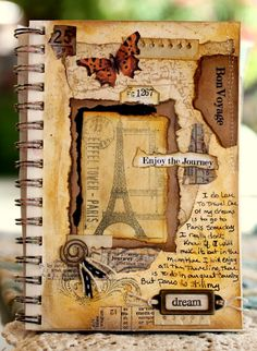My Happy Place....  Beautiful journal page