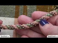 Beaded bracelet: triple spiral bracelet made using seed beads and delica beads | Beaded Jewellry