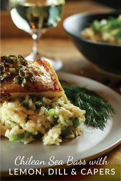 Pan-seared Chilean sea bass is seared on the stove, finished in the oven and draped with a quick wine, butter, lemon, dill & caper sauce. Finished in under 30 minutes, you will think you are eating at a fine restaurant.