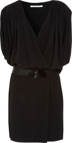 Ainslie Crepe Wrap Effect Dress