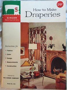 Vintage 1960 Singer How to Make Draperies Item 102 Booklet #Singer