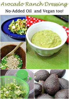 No oil added avocado ranch dressing - quick and easy to make