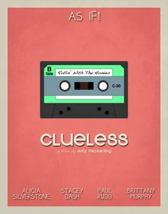Clueless minimalist movie poster by  Caleb and Lynsey
