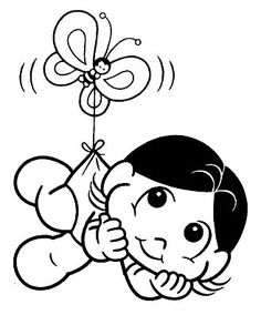 Magali Baby Coloring For Kids, Adult Coloring, Colouring Pages, Coloring Books, Origami, Disney Characters, Fictional Characters, Minnie Mouse, Embroidery