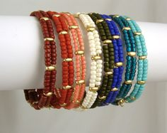 A set of 3 memory wire bangles, you choose the colors. $30.00, via Etsy.