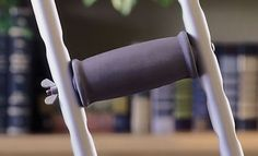 Crutches: Crutch Hand Grips Gray, 8 Count BUY IT NOW ONLY: $30.87