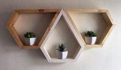 Mordern shelving geometric custom shelving 3 by Lovelifewood