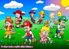 by MissPinkStripes on DeviantArt Super Mario All Stars, Super Mario Art, Super Mario Bros Games, Super Mario Brothers, Mario Comics, Princesa Peach, Mario Bros., Zine, Happy Easter