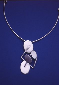 "Eila Minkkinen ~""Moonbridge"" silver #necklace, 2000."