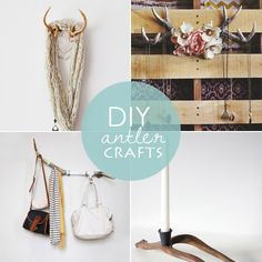 10 quirky and fun DIY antler projects that will bring a touch of the wild to your home decor with style! Nature Crafts, Fun Crafts, Arts And Crafts, Diy Wall Art, Diy Art, Deer Antler Crafts, Do It Yourself Crafts, Oh Deer, Craft Activities