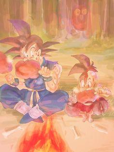 Goku y Uub.