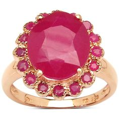 Malaika 14k Rose Goldplated Sterling Silver Oval Ruby Ring ($145) ❤ liked on Polyvore featuring jewelry, rings, red, 14k ruby ring, ruby ring, gold plated ring, sterling silver rose ring and band rings