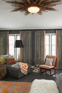 A Classic Twin City Tudor with a Modern Edge - love those curtains!