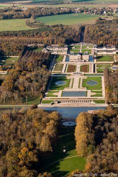 Photo aérienne de : Château de Vaux-le-Vicomte - Seine-et-Marne (77)