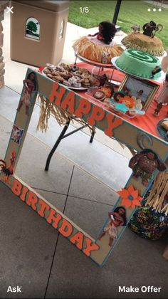 (luau party foods display)