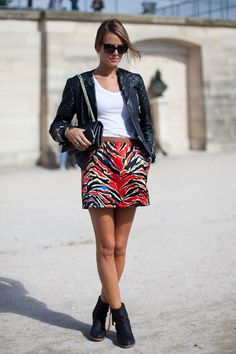 STREET STYLE SPRING 2013: PARIS FASHION WEEK - Balenciaga's way with zebra.