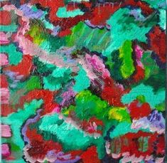 "Abstract Artists International: Colorful Contemporary Abstract Art Painting ""Liqui..."