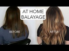 HOW TO: DIY BALAYAGE - DARK HAIR - YouTube