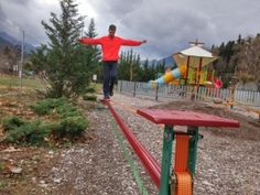 Slack line, Εκπαιδευτικό Πάρκο Science Fun, Park, Funny Science, Parks