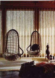retroclassic. pair of basket swings