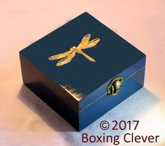Your place to buy and sell all things handmade Wooden Box Crafts, Cigar Box Crafts, Painted Wooden Boxes, Wooden Jewelry Boxes, Jewellery Boxes, Hand Painted, Diy Crafts Hacks, Diy Craft Projects, Wooden Box Designs