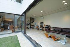 中庭のある家 くつろぎと愉しみを包むLの家 アーキッシュギャラリー