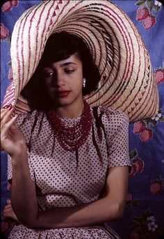 """Actress Jane White in a 1941 photograph by Carl Van Vechten. A 1944 graduate of Smith College, White was the daughter of Civil Rights icon Walter White. Ms. White began her career on Broadway in 1945 when Paul Robeson helped her get her first role as the lead in Lillian Smith's """"Strange Fruit,"""" a story about a doomed interracial love affair. First Lady Eleanor Roosevelt praised Ms. White's workfor its """"restraint and beauty."""" In 1959, Ms. White originated the role of Queen Aggravain (to a…"""