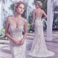 Maggie Sottero - Greer - Lace Wedding dress - Beaded - Y.A.P Bridal Boutique