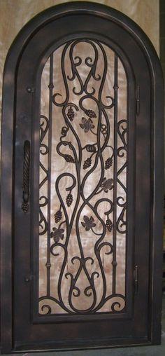 #Wrought Iron Door #Front Door #Wine Room Door
