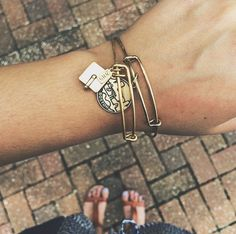 ALEX AND ANI graduation cap and boston bangles! #charmedarms