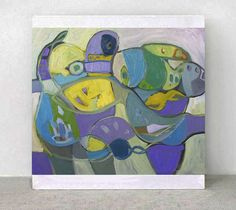 Original Painting   ABSTRACTHAPPY PEOPLE   by ARTGALERYPAINTING