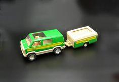 Tonka Van With Camper And People, Vintage Collectible Tonka Toy Tonka Toys, Tonka Trucks, Wood Owls, Star Show, Vintage Toys, 1970s, Camper, My Etsy Shop, Van