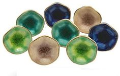 "Set of 8 Cabinet Knobs Ceramic Jordan Mix Handmade Drawer Pull Diameter 1.6"" (40 mm) Kitchen Cupboard Pull Dresser Door Handle by Trinca-Ferro - - Amazon.com Handmade Drawers, Handmade Cabinets, Ceramic Furniture, Furniture Knobs, Cabinet And Drawer Knobs, Drawer Pulls, Dresser Knobs, Ceramic Knobs, Ceramic Decor"