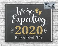 We're Expecting 2020 To Be A Great Year! Printable Pregnancy Baby Announceme We're Expecting 2020 To Be A Great Year! Expecting Baby Announcements, Pregnancy Announcement Photos, Pregnancy Announcement Cards, Pregnancy Photos, Baby Announcement Message, Expecting Baby Quotes, Pregnancy Outfits, Erwarten Baby, Diy Baby