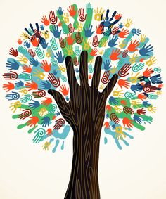 Afbeeldingsresultaat voor it takes a village to raise a child Tree Of Life Art, Tree Art, Harmony Day, Art For Kids, Crafts For Kids, Handprint Art, Preschool Crafts, Clipart, Diversity