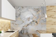 Abstract Marble Wallpaper Mural