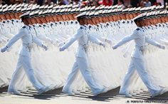 Precision...  Chinese People's Liberation Army sailors march past Tiananmen Square during the celebration of the 60th anniversary of the founding of the People's Republic of China on October 1, 2009 in Beijing. - photo by Feng Li / Getty Images